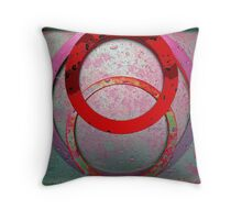 Three Ring Red Throw Pillow
