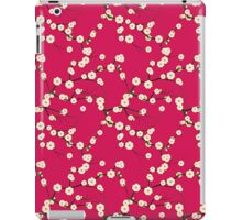 Japanese White Cherry Blossom Branches on Red iPad Case/Skin
