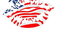 USA America Flag Fan Kiss by Style-O-Mat