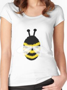 Bumble Bee on white Women's Fitted Scoop T-Shirt