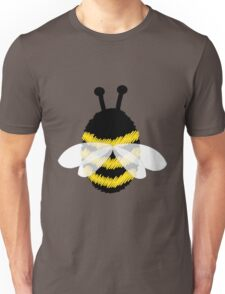 Bumble Bee on white Unisex T-Shirt