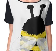 Bumble Bee on white Chiffon Top