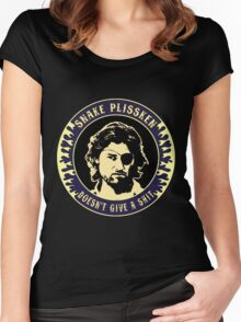 Snake Plissken (doesn't give a shit) Colour 3 Women's Fitted Scoop T-Shirt