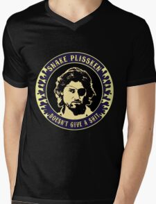 Snake Plissken (doesn't give a shit) Colour 3 Mens V-Neck T-Shirt