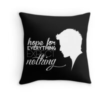 Darren Criss silhouette - quotes [white] Throw Pillow