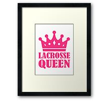 Lacrosse queen champion Framed Print