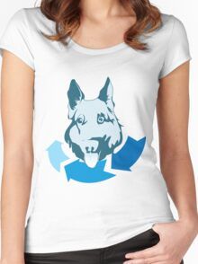 Returning Dog Cool Design Women's Fitted Scoop T-Shirt