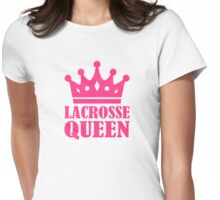 Lacrosse queen champion Womens Fitted T-Shirt