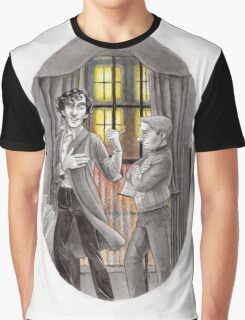 "Life is Infinitely Stranger"" - Sherlock and John - 221B version #  Graphic T-Shirt"