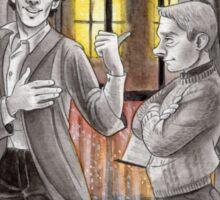 """Life is Infinitely Stranger"""" - Sherlock and John - 221B version #  Sticker"""