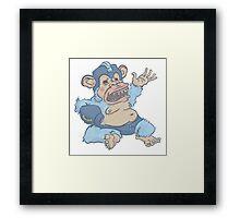 Mega Monkey - a Mega Man Adaptation Framed Print