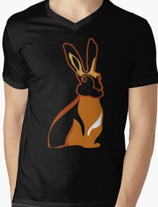 Golden Rabbit Wedding Design Mens V-Neck T-Shirt