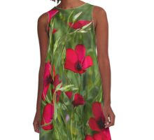 Red Poppies A-Line Dress