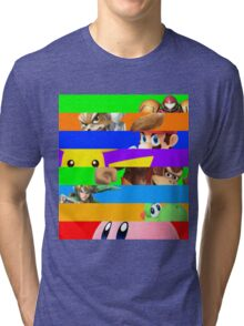 Smash for WiiU and 3DS - Old School 64  Tri-blend T-Shirt