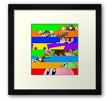 Smash for WiiU and 3DS - Old School 64  Framed Print