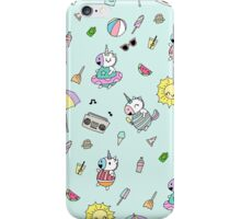 Summer Unicorn Pool Party iPhone Case/Skin