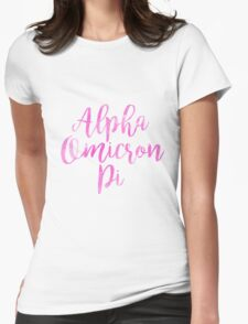 aopi aoii alpha omicron pi sorority sticker greek watercolor Womens Fitted T-Shirt