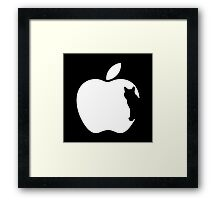 White Dog Computers Man's Best Friend PC Phone Logo Framed Print