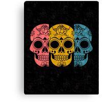 Pop Grunge Sugar Skulls Canvas Print