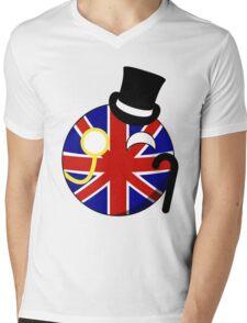 British ball Mens V-Neck T-Shirt