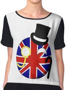British ball Chiffon Top