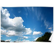 Cirrus and Cumulus Clouds Poster
