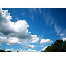 Cirrus and Cumulus Clouds Photographic Print
