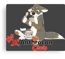 Not at Anthrocon Club Canvas Print