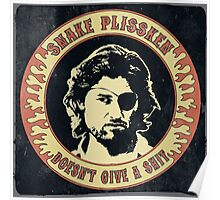Snake Plissken (doesn't give a shit) Vintage Poster