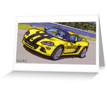 Yello-Car-Justin Beck-picture-2015102 Greeting Card