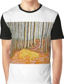 Tiger in the woods Graphic T-Shirt