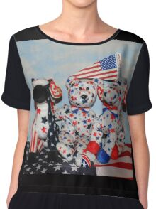 Teddy And His Patriotic Friends Chiffon Top