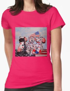 Teddy And His Patriotic Friends Womens Fitted T-Shirt