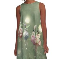 Floating Fuchsia Fairies A-Line Dress