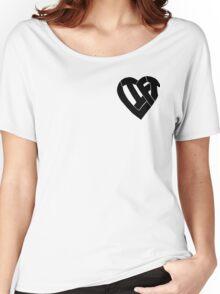 LIFT Heart - Black Women's Relaxed Fit T-Shirt