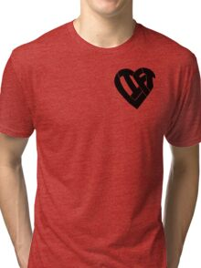 LIFT Heart - Black Tri-blend T-Shirt