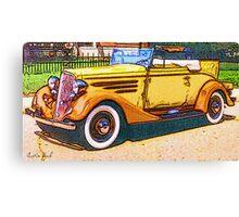 Old-Orange-Car-Justin Beck-picture-2015103 Canvas Print