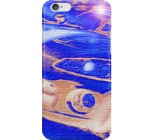 Blue-Neon-Nights-Car-Justin Beck-picture-2015106 iPhone Case/Skin