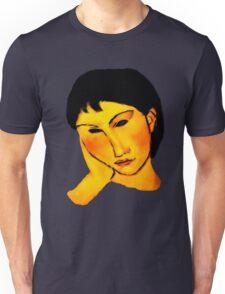 elvira resting at table Unisex T-Shirt