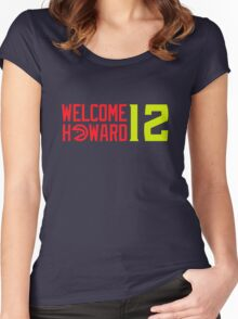 Welcome Dwight Howard - Atlanta Hawks Women's Fitted Scoop T-Shirt