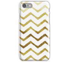 Gold and White Chevron Stripes iPhone Case/Skin