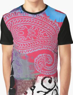 Bali III Abstract Fine Art Collage Graphic T-Shirt