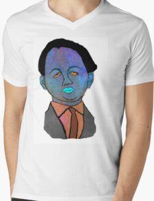 portrait of a mechanic  Mens V-Neck T-Shirt