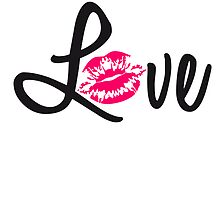 Love kissing lips logo by Style-O-Mat
