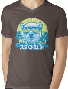 Bear Jus' Chillin' Mens V-Neck T-Shirt