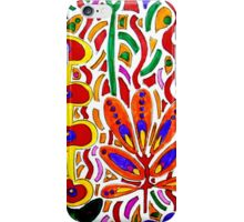 ORANGE AND YELLOW ABSTRACT FLORAL iPhone Case/Skin