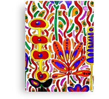 ORANGE AND YELLOW ABSTRACT FLORAL Canvas Print