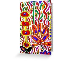 ORANGE AND YELLOW ABSTRACT FLORAL Greeting Card