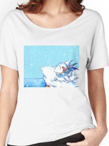 Seaside Snowfall Women's Relaxed Fit T-Shirt