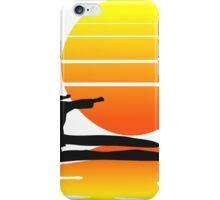 Karate at Sunset iPhone Case/Skin